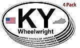 Wheelwright, Kentucky Oval Sticker - 4 pack