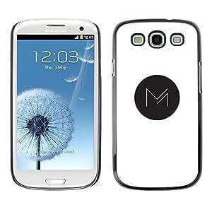 Be Good Phone Accessory // Dura Cáscara cubierta Protectora Caso Carcasa Funda de Protección para Samsung Galaxy S3 I9300 // M in dot