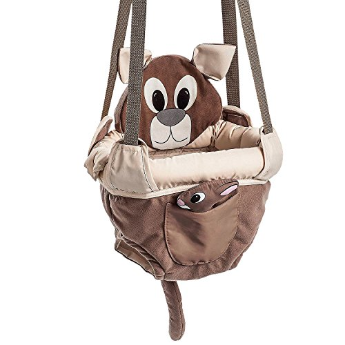 Evenflo ExerSaucer Baby Doorway Jumper, Brown - Joey Jump Up