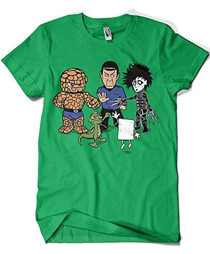 541-Camiseta Big Bang Theory - Piedra Papel Tijera (Samiel) Verde Irlandes