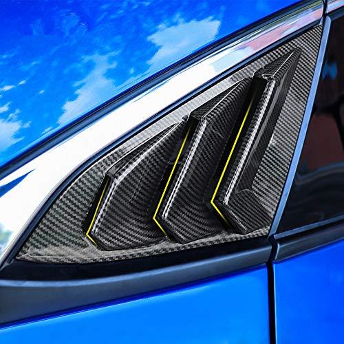- 2X Sport Style Carbon Fiber Print Quarter Window Scoops Louvers for Honda Civic Sedan 2016 2017 2018