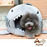 Yosoo Shark Round House Puppy Bed with Pet Bed Mat, Small to Medium (Medium)