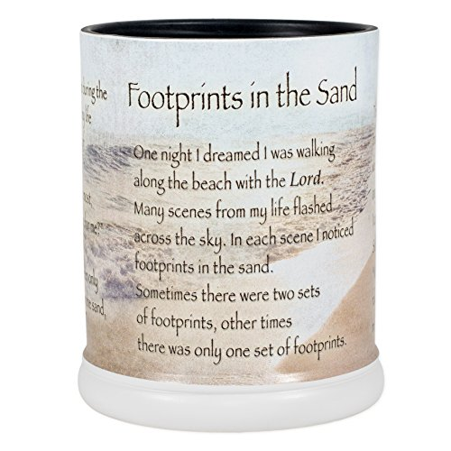 Elanze Designs Footprints in The Sand Ceramic Stoneware Electric Large Jar Candle Warmer ()