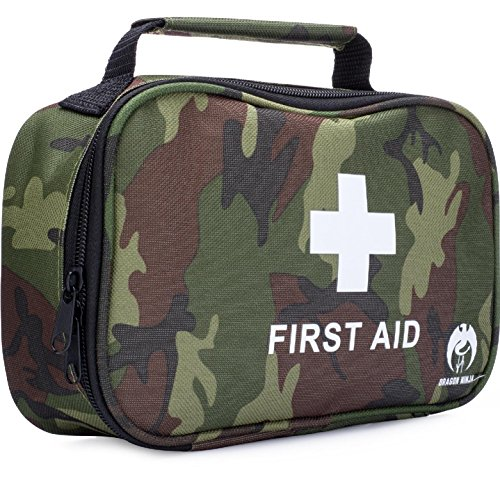 Dragon Ninja Best First Aid Kit 120 pieces for Sports and Outdoors Camping Hiking Hunting Car Travel Tactical Survival Home and Emergency (Vinyl 4 Piece Nurse Costume)