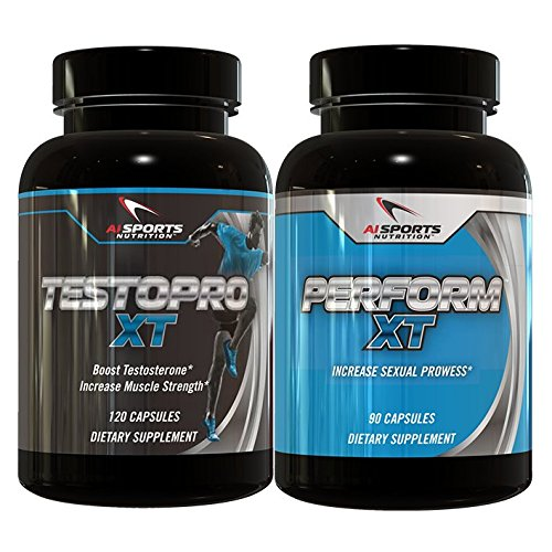 Perform XT & TESTOPRO XT Combo Pack by AI Sports Nutrition | Powerful Testosterone Boosting & Sexual enhancement (Female Sexual Enhancement Drugs)