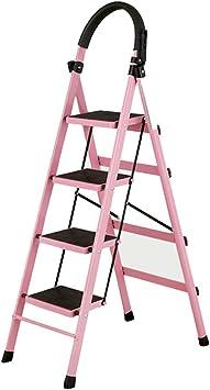 DD Escalera de 4 Peldaños-Patas Antideslizantes: Fácil de Almacenar Diseño Plegable–Ideal Para El Hogar/La Cocina/El Garaje Capacidad Máxima de 150Kg (Tamaño : Oro rosa): Amazon.es: Bricolaje y herramientas
