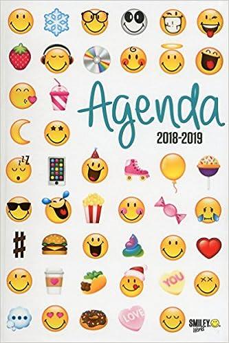 Smiley Agenda Emoticones 2018 2019 Amazon Fr Smileyworld