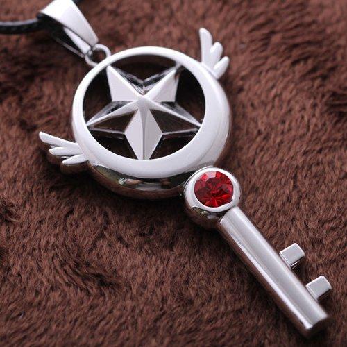 Ingooood Card Captor Sakura star key pendant necklace graduation gifts for friend