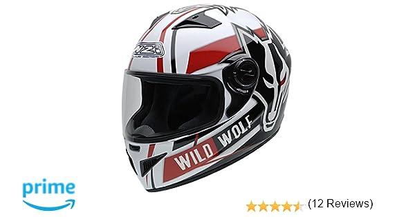 Amazon.es: NZI 150200G607 Must Wild Wolf Casco de Moto, Color Blanco, Negro y Rojo, Talla 60-61 (XL)