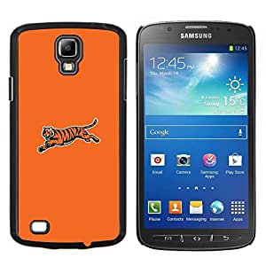 KLONGSHOP // Cubierta de piel con cierre a presión Shell trasero duro de goma Protección Caso - Tiger minimalista - Samsung Galaxy S4 Active i9295 //