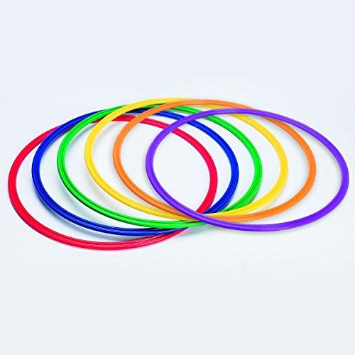 S&S Worldwide YS-AR-20 Spectrum Flat Hoops/Agility Rings, 19
