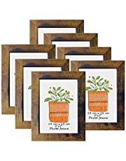 Picture Frames 4x6 Barnwood Rustic Frame Fits 4 by 6 Inch Prints Wall Tabletop Display, 7 Pack