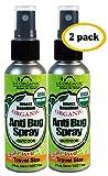 US Organic Mosquito Repellent Anti Bug Outdoor Pump Sprays, 2 Ounces Travel Size