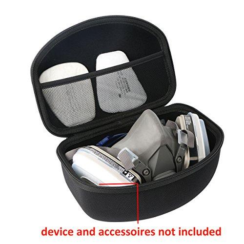 Khanka Hard Travel Case Replacement for 3M 07193/07192 Dual Cartridge Respirator Assembly,Organic Vapor/P95,Large