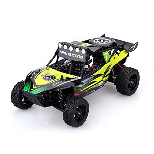 WLtoys K959 RC Car RC Monster Truck 2.4Ghz 2WD Off Road Electric Racing Car 1/12 Scale High Speed for Kids and Adults, Green