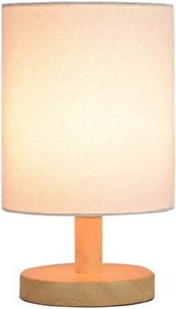 & Luz para Leer Lámpara de Mesa Lámpara de cabecera Luces del Dormitorio Cubierta de Tela