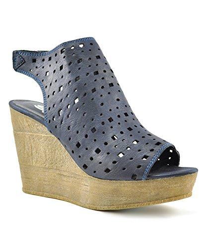 Sandalo Con Zeppa In Pelle Di Sandalo Con Zeppa Sbicca