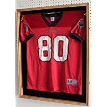 XX LARGE Football / Hockey Jersey Display Case Shadow Box Frame, Locks, with UV Protection Door (JC02-OA) by DisplayGifts