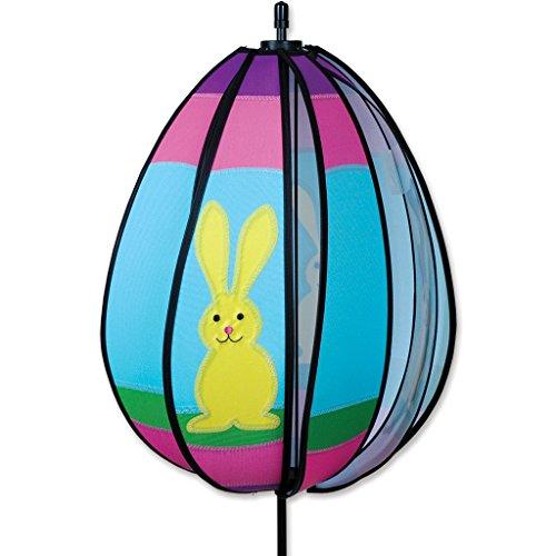 Easter Bunny Egg Spinning Garden Wind Spinner, 18 1/2 Inch