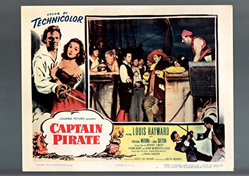 Drama Pirate - MOVIE POSTER: CAPTAIN PIRATE-1952-LOBBY CARD-DRAMA-ADVENTURE-LOUIS HAYWARD VF