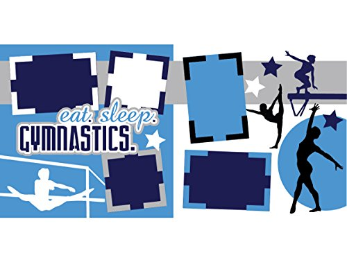 Eat Sleep Gymnastics Scrapbook Page Kit
