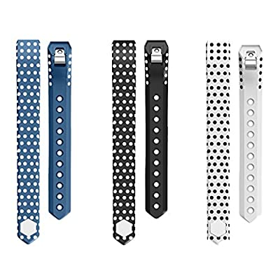 Fitbit Alta Bands,Greeninsync(TM) Polka Dot Fitbit Alta Accessory Replacement Bands Small Large W Metal Clasp Unique Design Fatener for Man Women Kids