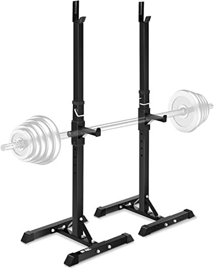 Ollieroo Multi-Function Barbell Rack Dip Stand Gym Family Fitness Adjustable Sq