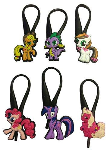 [Little Pony Silicone Snap Lock Zipper Pulls 6 Pcs Set #2] (Disney Tinker Bell Kids Sparkle Shoes)