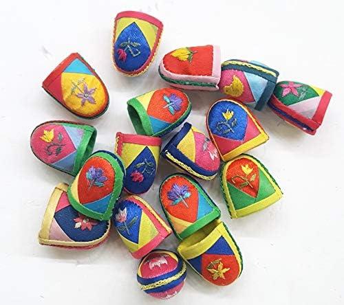 Random Shipment 5 pcs Mj Traditional Korean Thimbles Sewing Thimble Finger Protector,Protector Pin Needles Sewing Quilting Craft Accessories DIY Sewing Tools