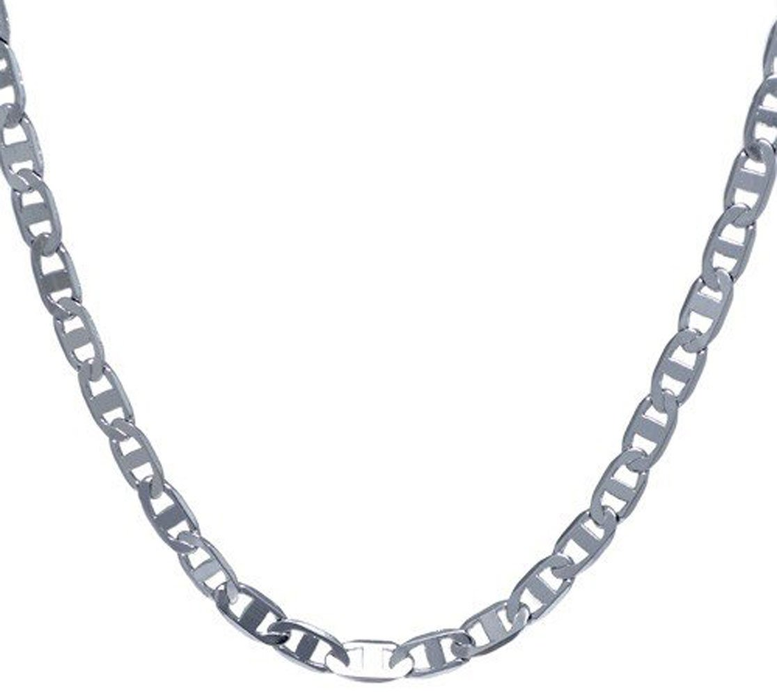 .925 Italian Sterling Silver ''FLAT ROUND MARINA LINKS'' Chain Necklaces or Bracelets Flat Edges Nickel Free 7-36 inches (36 Inches)