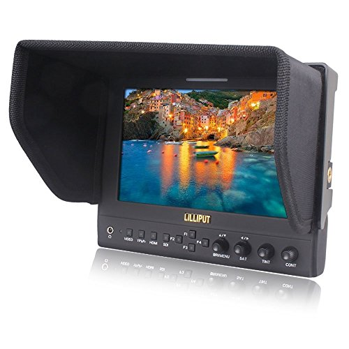 2014 newest Lilliput 663/S2 HMDI Output 7''LED Monitor 1280x800 IPS 800:1 Contrast with Suit Case+folding Sun Shade Cover for DV DSLR Video Camera Such As Canon 500D 600D 1100D 60D 5DII SONY Camera by Lilliput