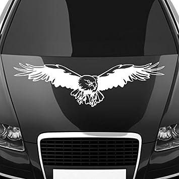 Malango® Autoaufkleber Adler Auf Motorhaube Aufkleber Dekoration Sticker  Design Tuning Szene Ca. 100 X
