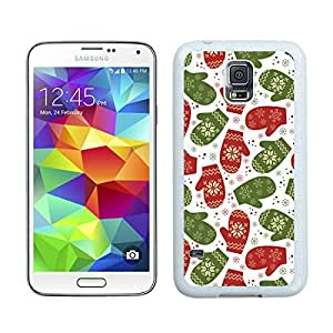 Personalize offerings Gloves Christmas Pattern White Samsung Galaxy S5 Case 1