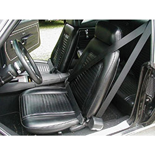 Eckler's Premier Quality Products 33186617 Camaro 3Point Retractable Front Seat Belt Kit With Plain Buckles Coupe Morris Classics Concepts
