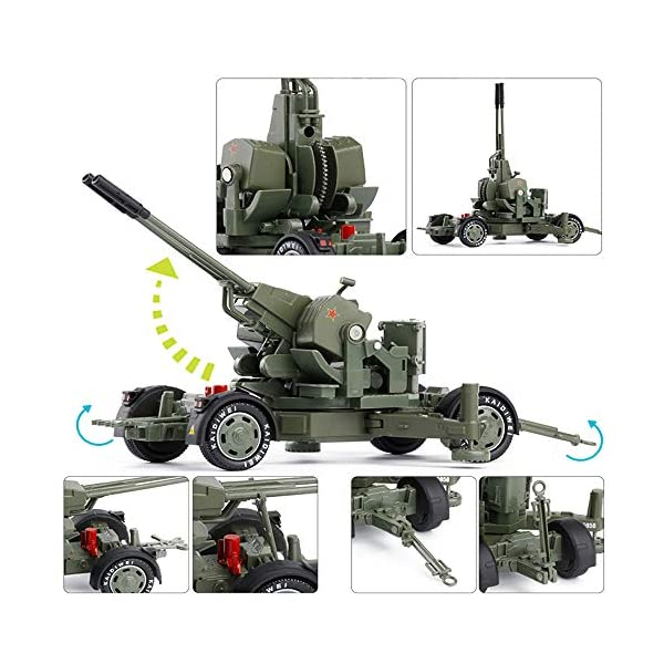 LXWM 1/35 Model Military Toys Anti-Aircraft Weapon System Aircraft Anti-Aircraft Gun Diecast Metal Toy Model for… 4