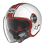 Nolan N21 Visor Duetto White Gloss/Red Open Face Helmet, L