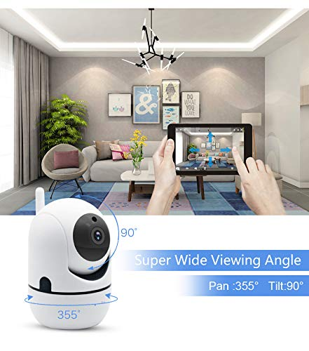 MDGLSYEE 2K 3MP Security Camera, Pan/Tilt/Zoom WiFi Home Indoor IP Camera for Baby/Pet/Nanny Monitor, Night Vision, 2-Way Audio, Motion Detection, Cloud/MicroSD Storage