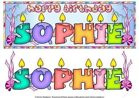 Velas de cumpleaños con nombre - Sophie por Sheila Rodgers ...