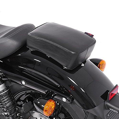 Selle Pouf passager à Ventouses pour Harley Davidson Sportster Forty-Eight 48 (XL 1200 X) Craftride Flat Head noir