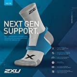 2XU Vectr 1/4 Crew Sock, Black/Titanium, Large