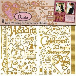HOTP Dazzles Scrapbooking WEDDING ANNIV GOLD - Scrapbooking Hotp