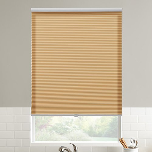 SBARTAR Cordless Honeycomb Blinds Room Darkening Cellular Shade for Window, 29' W x 64' H, Beige
