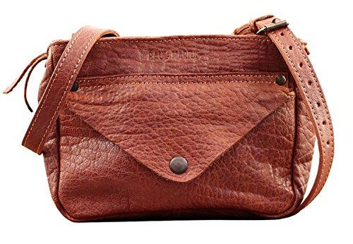 LE GAVROCHE Marrón Natural pequeña bolsa de cuero de estilo vintage PAUL MARIUS