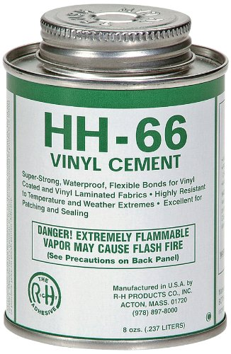 Rh Adhesives Hh 66 Industrial Strength Vinyl Cement Glue With Brush  8 Oz  Clear