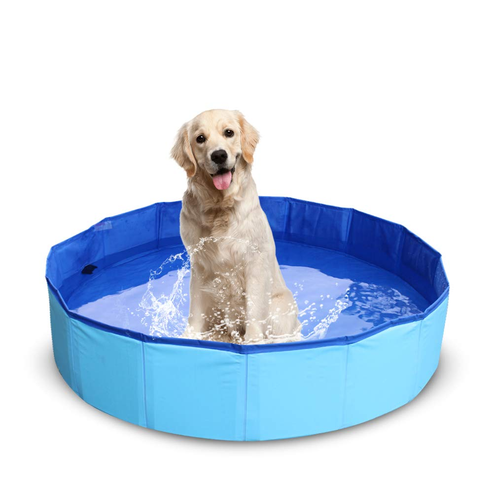 NHILES Portable Pet Pool, Indoor and Outdoor Foldable Leakproof, Collapsible Bathing Tub for Medium Sized Dog by NHILES