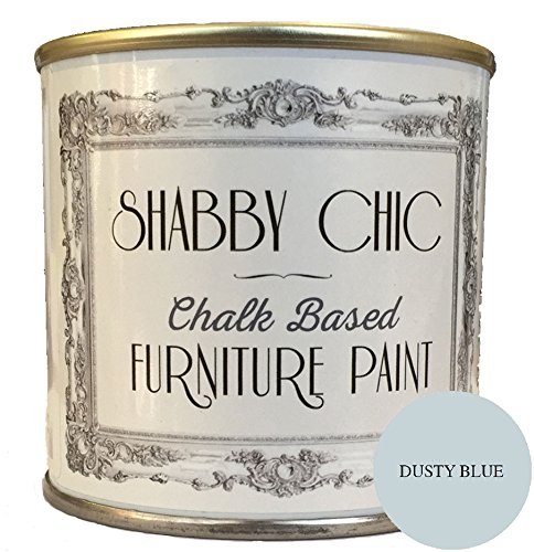 Dusty Blue Furniture Paint great for creating a shabby chic style. 1 litre Rainbow Chalk Markers Ltd