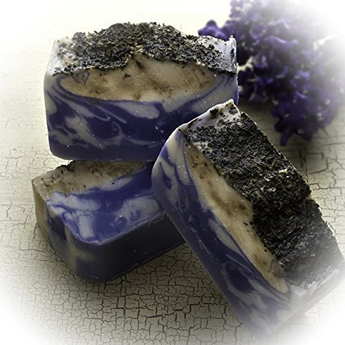 French Lavender Basil Soap Bar (4 Oz)-handmade Organic with Essential Oils. Natural Moisturizing Body Soap for Skin and Face. With Shea Butter, Coconut Oil, Natural Glycerin
