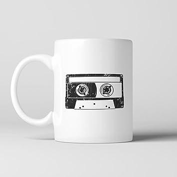 Amazon.com: Cinta de casete taza de café, taza de cerámica ...