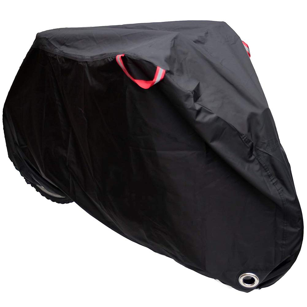 JS-YHLUSI Protective Cover (Black), Bicycle Dust Guard (Upgrade), Outdoor Waterproof Anti-UV Polyester, Suitable For Garden Patio,L