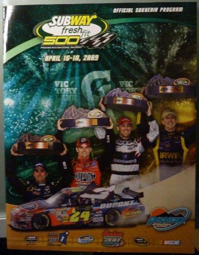 (Official Souvenir Program - Subway Fresh Fit 500 - Phoenix International Raceway - April 16-18, 2009 - NASCAR)